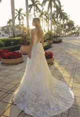 V-neck A-line Floral Embroidered Wedding Dress by Randy Fenoli - Image 2