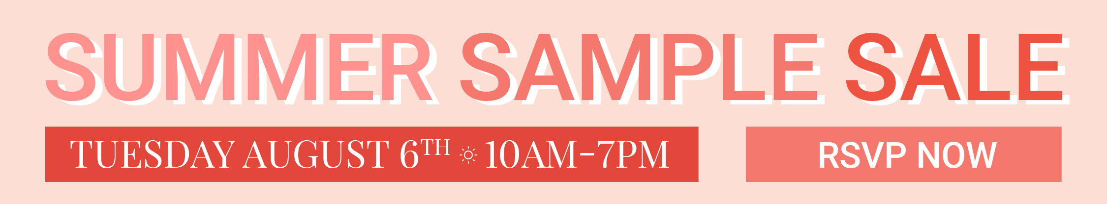 Summer Sample Sale Banner