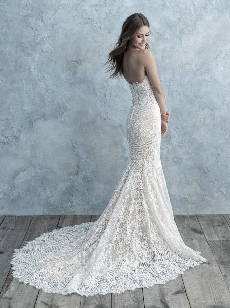Allover Lace Sweetheart Strapless Mermaid Wedding Dress by Allure Bridals - Image 2