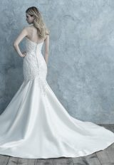 Beaded Lace Appliqué Sweetheart Strapless Fit And Flare Wedding Dress by Allure Bridals - Image 2