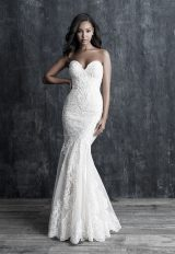 Fit And Flare Sweetheart Lace Wedding Dress by Allure Bridals - Image 1