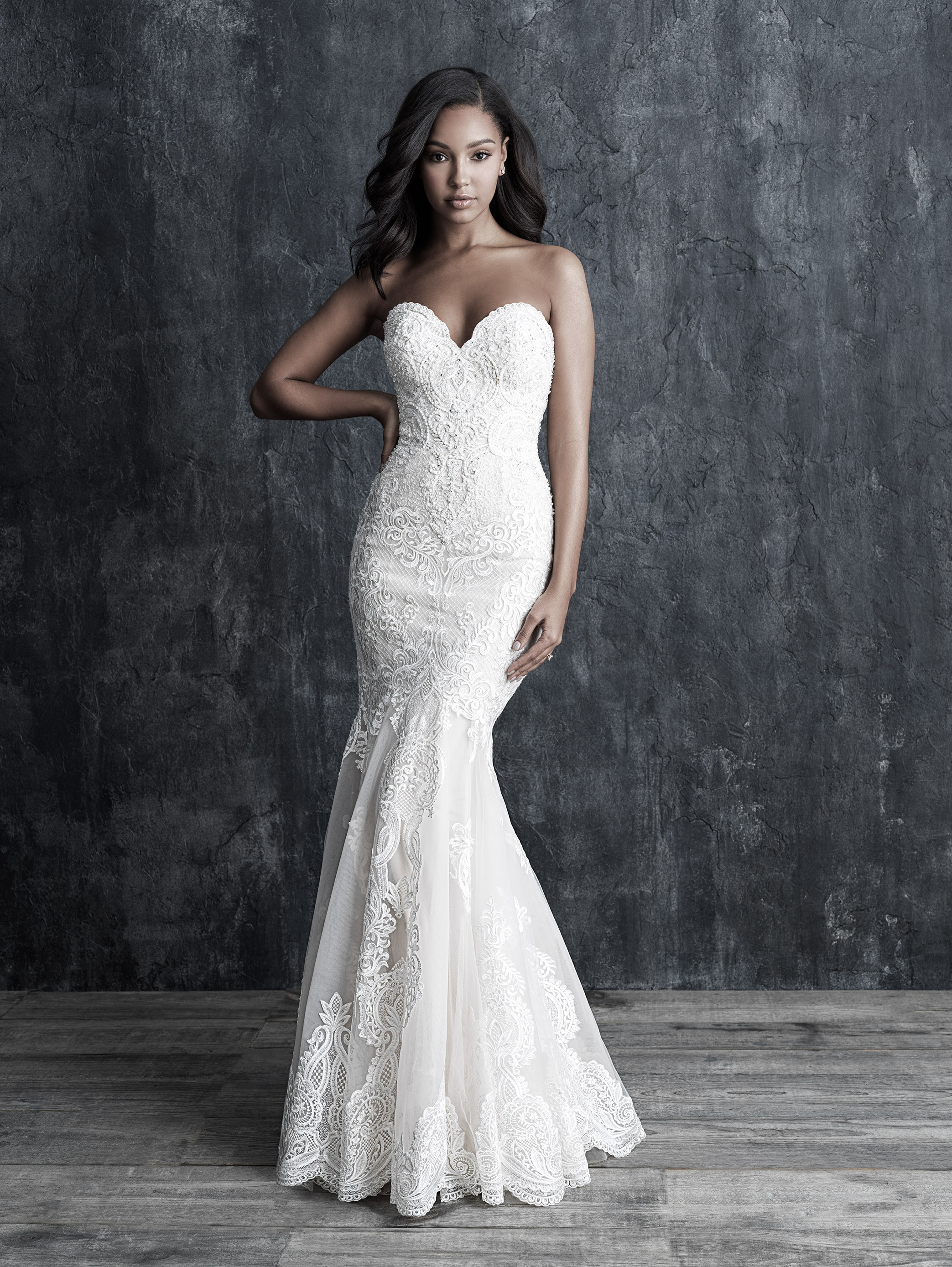 934a85e4a Fit And Flare Sweetheart Lace Wedding Dress | Kleinfeld Bridal