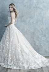 Strapless Sweetheart Floral Lace Applique Ball Gown Wedding Dress by Allure Bridals - Image 2