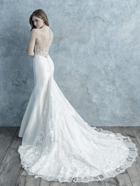 Strapless Sweetheart Silk Mikado Fit And Flare Wedding Dress by Allure Bridals - Image 2