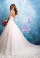 Strapless Tulle Ballgown Wedding Dress by Allure Bridals - Image 2