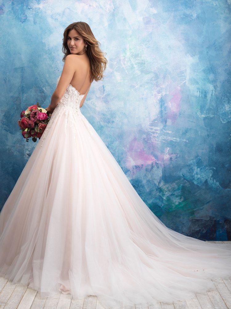 Strapless Tulle Ballgown Wedding Dress by Allure Bridals - Image 2