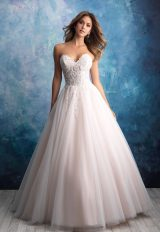 Strapless Tulle Ballgown Wedding Dress by Allure Bridals - Image 1