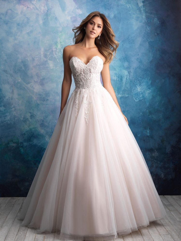 Strapless Tulle Ballgown Wedding Dress by Allure Bridals - Image 1