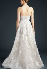 Strapless Tulle Lace Skirt Wedding Dress by Anne Barge - Image 2