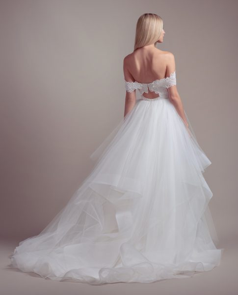 Strapless Tulle Skirt Ball Gown Wedding Dress by BLUSH by Hayley Paige - Image 2