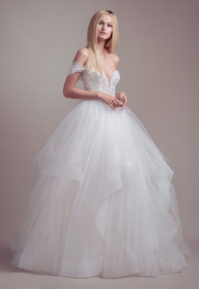 Strapless Tulle Skirt Ball Gown Wedding Dress by BLUSH by Hayley Paige