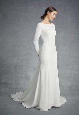 Simple Long Sleeve Bateau Necckline Wedding Dress by Danielle Caprese - Image 1