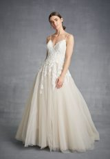 Spaghetti Strap A-line Tulle Wedding Dress by Danielle Caprese - Image 1