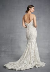 Spaghetti Strap Mermaid Lace Wedding Dress by Danielle Caprese - Image 2