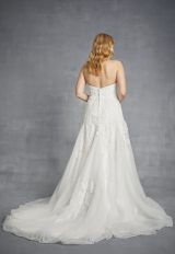 Strapless Beaded Lace A-line Wedding Dress by Danielle Caprese - Image 2