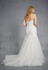 Strapless Lace Mermaid Weding Dress With Tulle Skirt by Danielle Caprese - Image 2