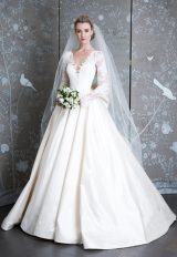 Long Sleeve Ivory Ball Gown Wedding Dress by LEGENDS Romona Keveza - Image 1