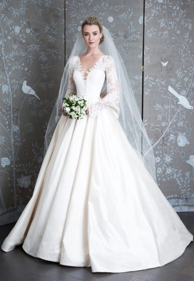 Long Sleeve Ivory Ball Gown Wedding Dress by LEGENDS Romona Keveza