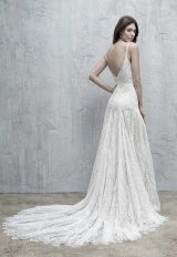 All Over Paisley Lace Sheath Wedding Dress by Madison James - Image 2