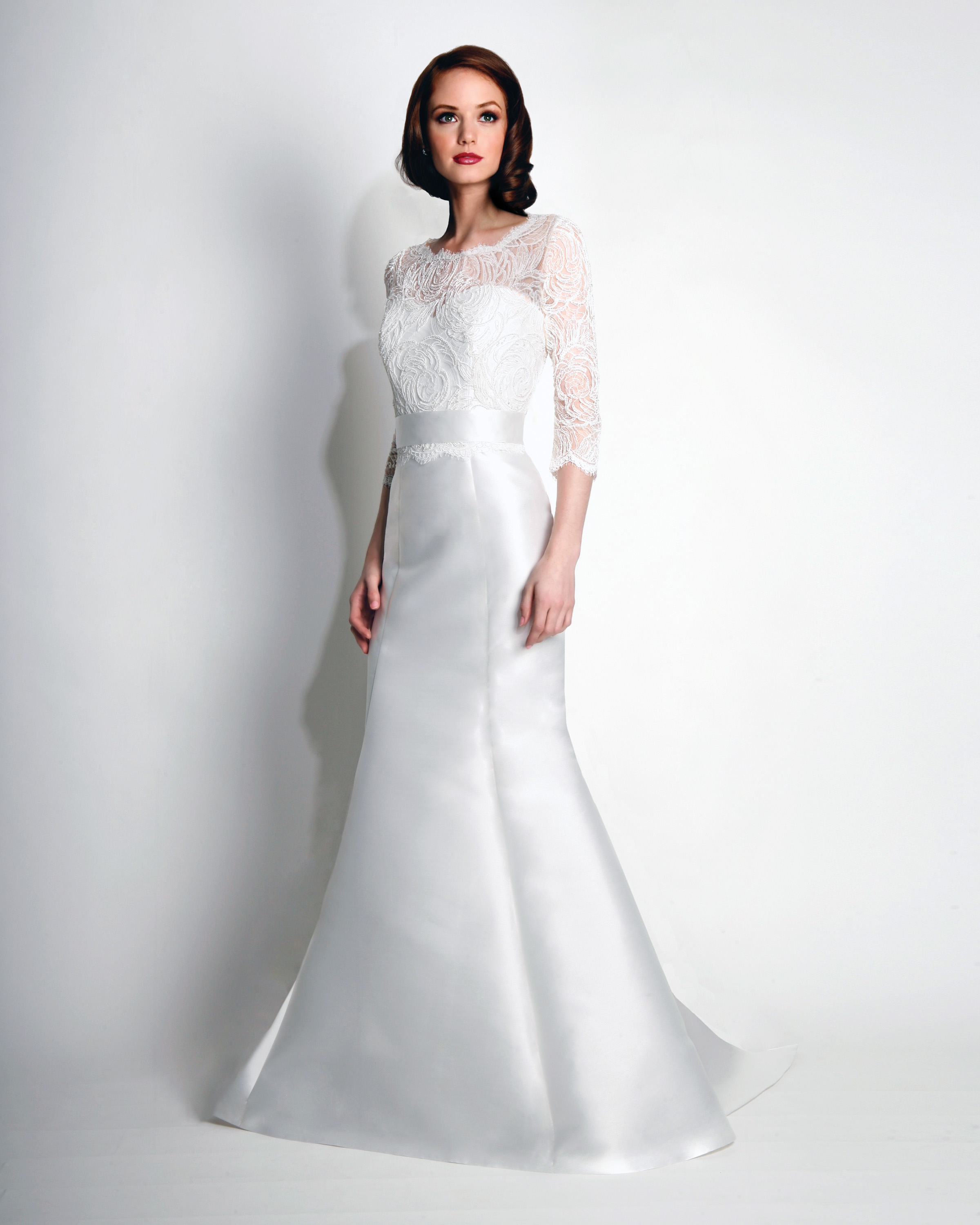 Mikado Wedding Gown: Sweetheart Strapless Fit And Flare Mikado Wedding Dress