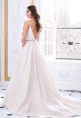 Classic A Line Spaghetti Strap Silk Wedding Dress by Paloma Blanca - Image 2