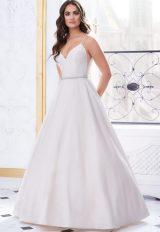 Classic A Line Spaghetti Strap Silk Wedding Dress by Paloma Blanca - Image 1