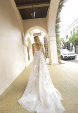 Blush V-neck A-line Wedding Dress by Randy Fenoli - Image 2