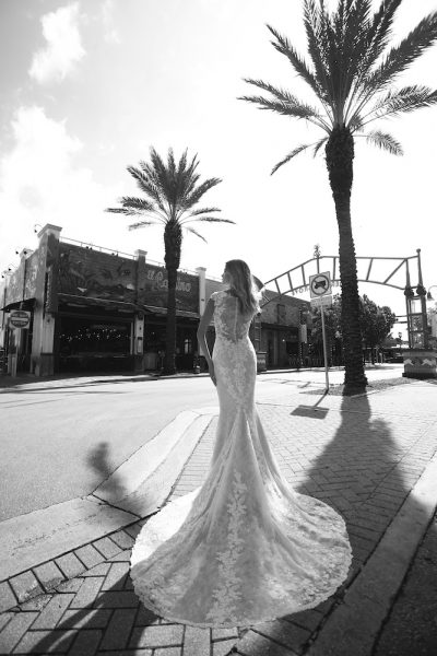 Embroidered Lace Wedding Dress by Randy Fenoli - Image 2