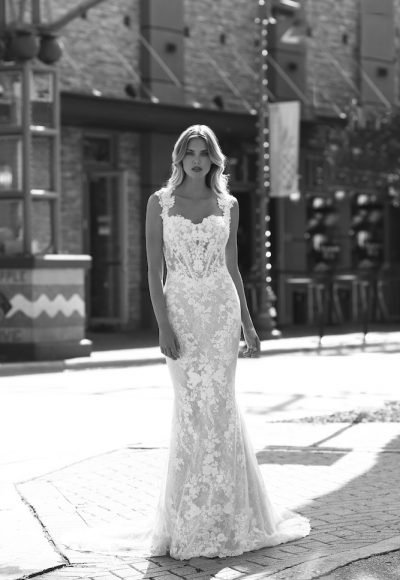 Embroidered Lace Wedding Dress by Randy Fenoli