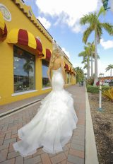 Strapless Mermaid Tiered Skirt Wedding Dress by Randy Fenoli - Image 2