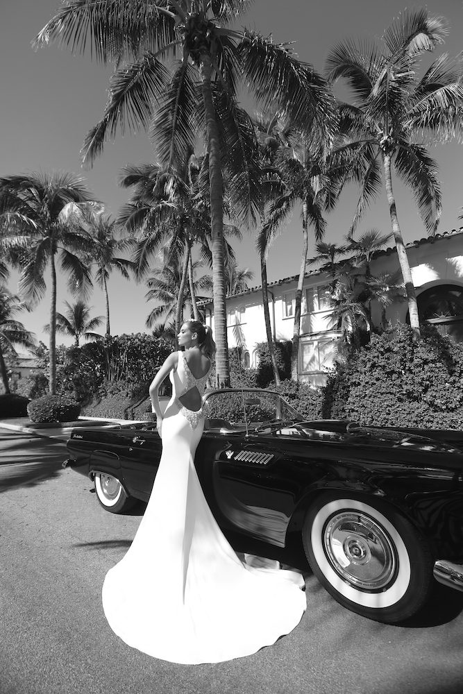 V-neck Crepe Wedding Dress by Randy Fenoli - Image 2