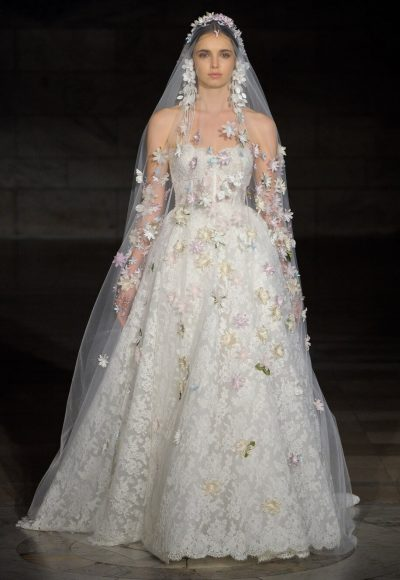 Sweetheart Lace Ball Gown by Reem Acra