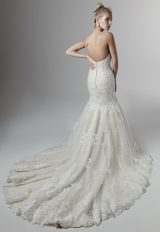 Allover Lace Beaded Strapless Sweetheart Mermaid Wedding Dress by Sottero and Midgley - Image 2