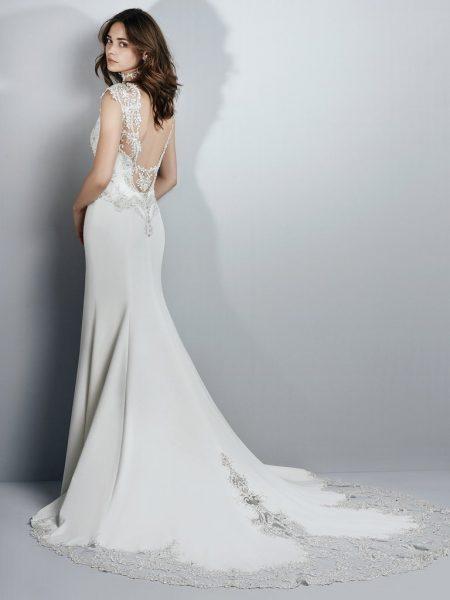 Illusion Crepe Wedding Dress by Sottero and Midgley - Image 2