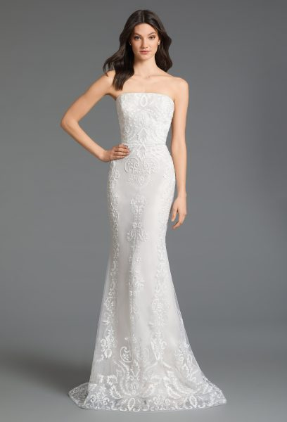 Strapless Tulle A-line Wedding Dress by Tara Keely - Image 2
