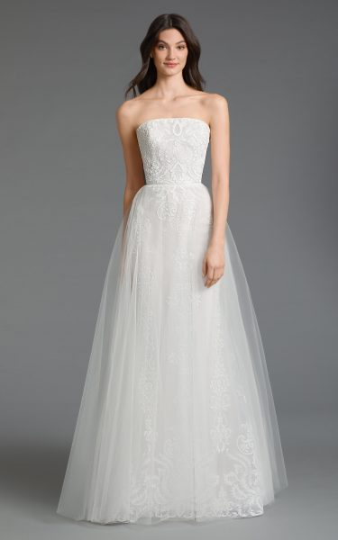 Strapless Tulle A-line Wedding Dress by Tara Keely - Image 1