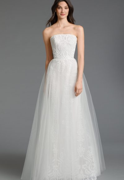 Strapless Tulle A-line Wedding Dress by Tara Keely