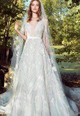 V-neck Flitter A-line Wedding Dress by Zuhair Murad - Image 1