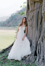 Sleeveless V-neck A-line Lace Wedding Dress by Le Spose Di Gio - Image 1