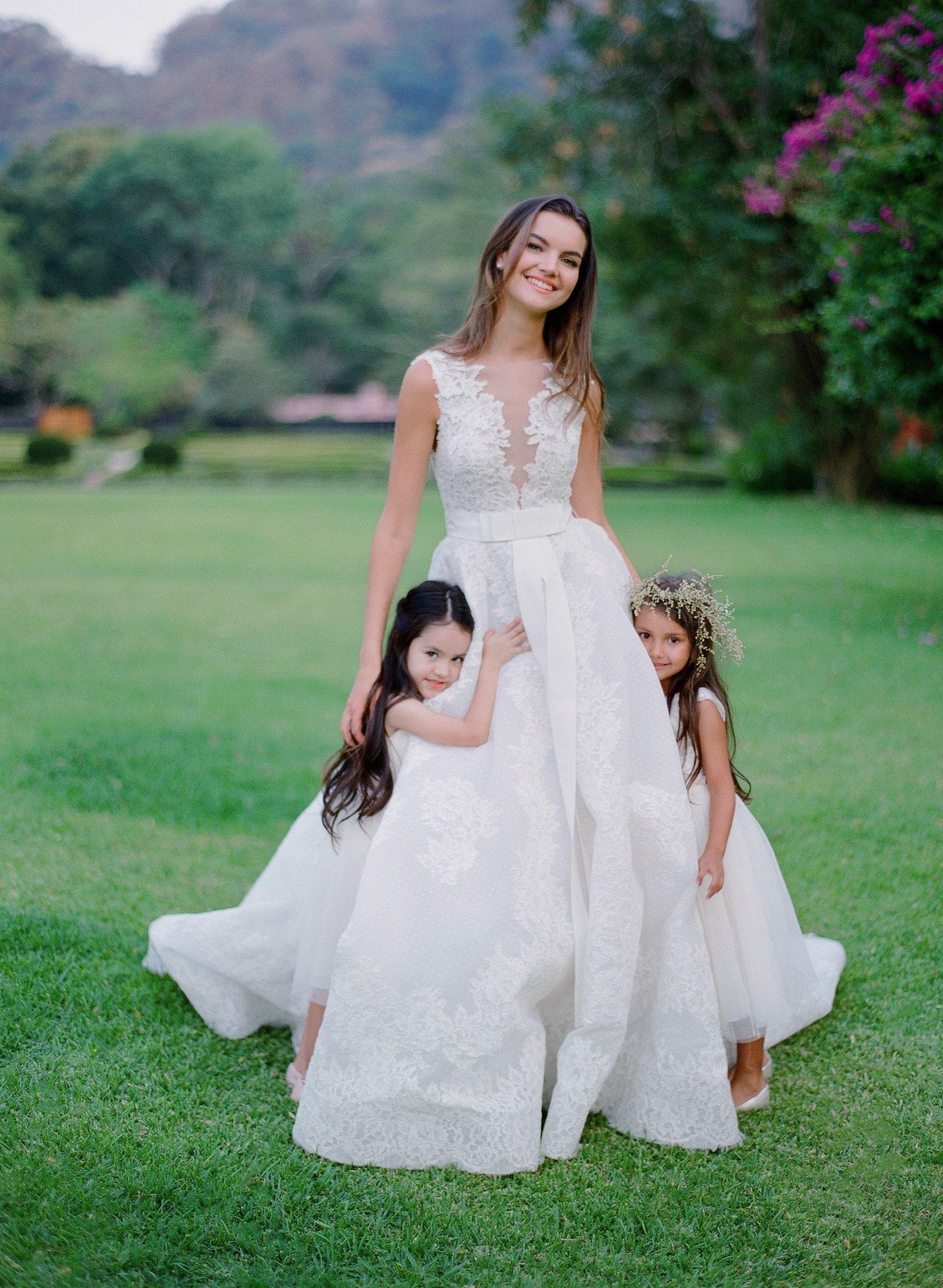 #KleinfeldEditorial We took our newest wedding dresses, bridesmaids dresses and flower girl dresses from Kleinfeld Bridal and Kleinfeld Bridal Party down to the Hacienda San Antonio in Colima Mexico for a stunning editorial photoshoot—here is all the adorable flower girl inspiration you need to get the perfect photos from your photographer!