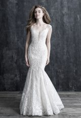 Cap Sleeve Lace Fit And Flare Wedding Dress by Allure Bridals - Image 1