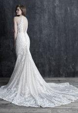 Halter Neckline Beaded Wedding Dress by Allure Bridals - Image 2