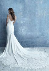 Spaghetti Strap Crepe Sheath Wedding Dress by Allure Bridals - Image 2