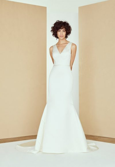 Sleeveless V-neck Fit To Flare Wedding Dress by Amsale