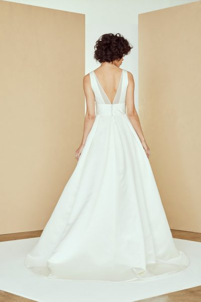V-neck Organza Ball Gown Wedding Dress by Amsale - Image 2