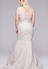 All Over Beaded Sleeveless V-neckline Mermaid Wedding Dress by Anne Barge - Image 2