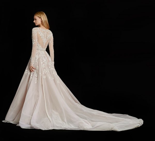 Long Sleeve Illusion Bateau Neckline Beaded And Embroidered A-line Wedding Dress by Hayley Paige - Image 2
