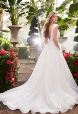 Cap Sleeve Ball Gown Wedding Dress by Mikaella - Image 2