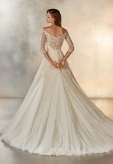 3/4 Sleeve Beaded Illusion Ball Gown by Pronovias - Image 2