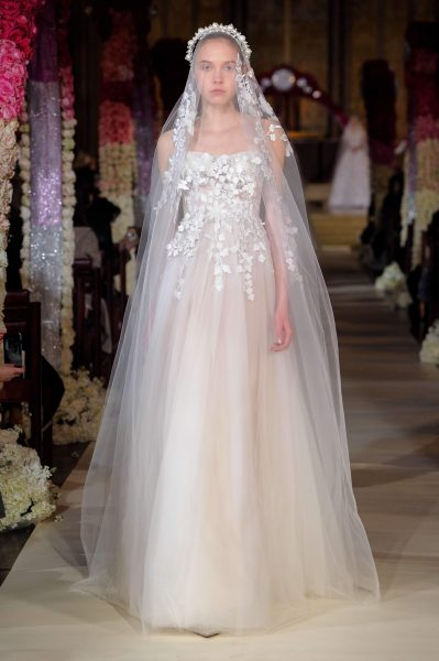 Strapless Tulle A-line Wedding Dress by Reem Acra - Image 1